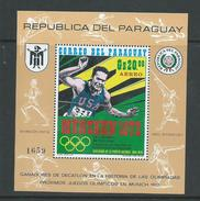 Paraguay 1971 Munich Olympics Bill Toomey Miniature Sheet MNH - Paraguay