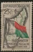 MADAGASCAR 1959 Proclamation Of The Republic. USADO - USED. - Madagascar (1960-...)