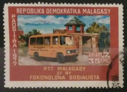 MADAGASCAR 1977 Motorized Areas For Rural Post Offices. USADO - USED. - Madagascar (1960-...)
