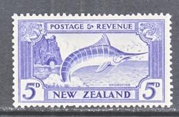 NEW  ZEALAND  210   *  Wmk.  253  1936  Issue  FISH  STRIPPED  MARLIN - 1907-1947 Dominion
