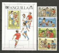 358bz * ANGUILLA SATZ UND BLOCK * JAHR DES KINDES * POSTFRISCH *!! - Anguilla (1968-...)