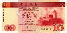 MACAO 10 PATACAS Du 8-1-2001  Pick 101  UNC/NEUF - Macao