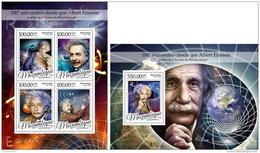 MOZAMBIQUE 2016 ** Albert Einstein M/S+S/S - OFFICIAL ISSUE - A1649 - Albert Einstein