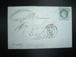 LETTRE (PLI) TP NAPOLEON LAURE 20c OBL. GC 2068 + 30 DEC 69 LODEVE (34 HERAULT) NOUGUIER FRERES & BOUSQUET - Postmark Collection (Covers)