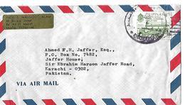 1986 Manila, Philippines Airmail Cover Manila S Jeepney To Pakistan. - Filipinas