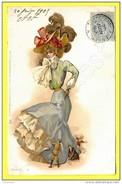 RAPHAEL TUCK « UN MOT A LA POSTE - FEMME HOMME A SES PIEDS » SERIE 118 - 3 ( PRECURSEUR 1905 ) - Tuck, Raphael