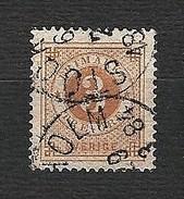 SVERIGE 1872 - Numerals In Circle - 3 öre - Yv:SE 17 - Suède
