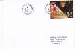 Polynésie Française, Lettre De 2001, VAIIAHU-TAHUATA,MARQUISES, N° 630 ( Poly17/048) - Lettres & Documents