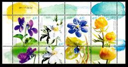 Estonia 2004 Estland  Mi Block 21(481-484) Spring Flowers / Frühlingsblumen **/MNH - Planten