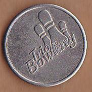 AC -  TRIO BOWLING TOKEN JETON - Monedas/ De Necesidad