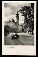 [029] Wien 19, Grinzing, Bäckerei Josef Berger, ~1940, Motorrad + Beiwagen, Ohne Verlagsangaben - Grinzing