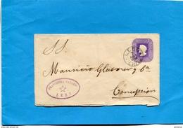 Marcophilie-CHILI--lettre Entier Postal 5 C Colomb-cad LEBU 1892->CONCEPTION - Chile