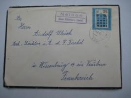 1962 , NELBEN über Könnern , Klarer Landpoststempel Auf Brief