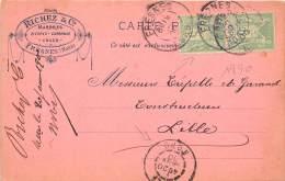 59 - NORD / Fresnes - Carte Postale De Correspondance - RICHEZ - Marbres - 1890 - Andere Gemeenten