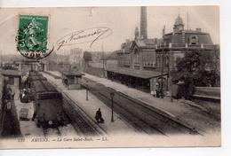 CPA.80.Amiens.1908.La Gare Saint-Roch.animé Personnages. - Amiens