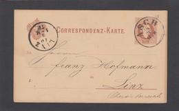 ASCH(TCHESCHIEN)G.S. NACH LINZ 9-12-1878. - Stamped Stationery