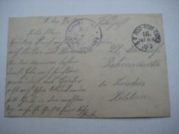 1917 ,   Sapignies  Ortskommandantur   , Carte Postale Militaire - Postmark Collection (Covers)