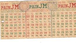 Titres D'alimentation PAIN JM Janvier 1949 Mairie Du 13è Arrondissement De Paris - Bons & Nécessité