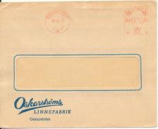 Sweden Cover With Meter Cancel OSKARSTROM 26-3-1957