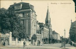 AK Straubing, Eisenbahnstraße, O 1912, Großer Papierschaden Oben Rechts!!! (2204) - Straubing