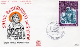 """Monaco 1975 Belle Fdc Croix Rouge """"red Cross Saint Bernardin De Sienne (01196) - FDC"""