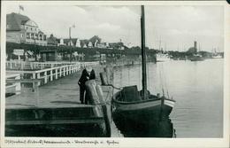 AK Lübeck-Travemünde, Hafen, Um 1940, Eckschaden Oben Rechts (2184) - Lübeck-Travemuende