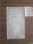 WW2 OBLIGATION 4% 1941 CAISSE AUTONOME BONS DÉFENSE NATIONALE EXPLOITATION TABAC ALLUMETTES DETTE PUB-1000F Action-Titre - Actions & Titres