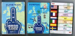 JEU DE 52 CARTES + 2 JOKER AVEC ETUI CUSSCARDS CUSS CARDS EUROPEAN / MADE IN CHINA - Cartes à Jouer Classiques