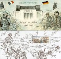 France - Feuillet Bloc Souvenir N° 126 ** Bataille De Verdun - Militaires, Uniformes, - Souvenir Blokken
