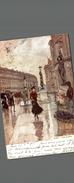 PARIS RUE AUBERT OPERA  (probablement Peinte A La Main - Autres Monuments, édifices
