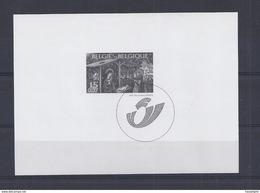 Belgie - Belgique GCB5 - Zwart-wit Velletje Uit Jaarboek 2001  -  Kerstzegels 3044  - NIET GEKWOTEERD - Feuillets Noir & Blanc