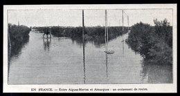 1907  --  30 GARD  --  ENTRE AIGUES MORTES ET AIMARGES  CROISEMENT DE ROUTES INONDEES  3L.974 - Vecchi Documenti