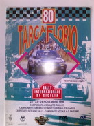 X 80 TARGA FLORIO 96 RALLY INTERNAZIONALE TABELLA TEMPI DISTANZE CARTINE 12 PAG - Automobilismo - F1