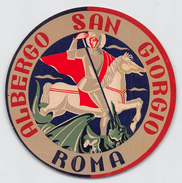 """D5630 """" HOTEL SAN GIORGIO - ROMA - ITALIA"""" ETICHETTA ORIGINALE - ORIGINAL LABEL - Adesivi Di Alberghi"""