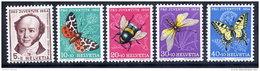SWITZERLAND 1954 Pro Juventute Set  MNH / **.  Michel 602-06 - Unused Stamps