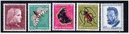 SWITZERLAND 1953 Pro Juventute Set  MNH / **.  Michel 588-92 - Pro Juventute