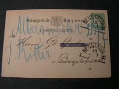 Bayern, Neustadt A H   Alte  Karte  Ca. 1874 Nach  Ludwisghafen - Bavaria