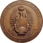 ESPAÑA. MEDALLA DEL 50 ANIVERSARIO DEL SERVICIO GEOGRAFICO DEL EJÉRCITO. 1.989. ESPAGNE. SPAIN MEDAL - Profesionales/De Sociedad