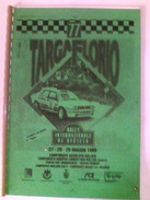 X 77 TARGA FLORIO 1993 CARNET DE BORD 2^TAPPA 74 PAG QUALCHE SEGNO - Automobilismo - F1