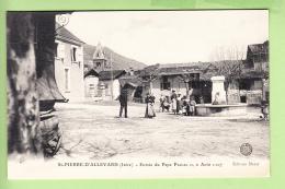 Saint PIERRE D' ALLEVARD - Superbe Plan Animé De La PLACE - TBE - Ed. Maret - 2 Scans - France