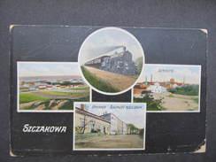 AK SZCZAKOWA Ca.1915 Zug Lokomotive // D*23018 - Polen