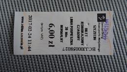Bus Ticket From Szczecin 6zl Poland - Fahrkarte - Transportation