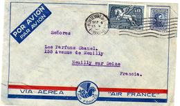 Enveloppe Air France De 1937 Pour Parfums Chanel - Avions
