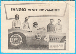 JUAN MANUEL FANGIO  Formula 1 World Champion 5x * Old Photo * F1 Argentina Maserati Severino Zampiero Manfredini Munaron - Car Racing - F1