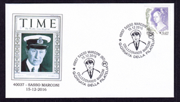 ITALY ITALIA 2016 SPECIAL POSTMARK NOBEL PRIZE GUGLIELMO MARCONI RADIO SASSO MARCONI - Nobel Prize Laureates