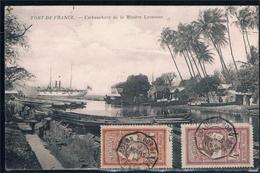 Martinica. Postal Circulada Con Sellos De Martinica - Postales