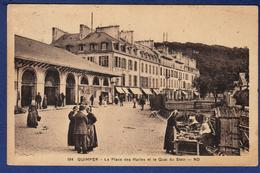 29 QUIMPER La Place Des Halles Et Le Quai Du Steir - Animée - Quimper