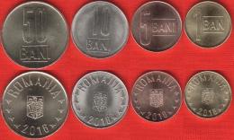 Romania Set Of 4 Coins: 1-50 Bani 2016 UNC - Romania