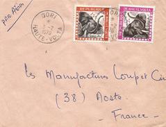 Burkina Faso Haute Volta 1970 Dori Elephant Official Cover - Burkina Faso (1984-...)