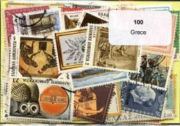 100 Timbres Thème Grèce - Collections